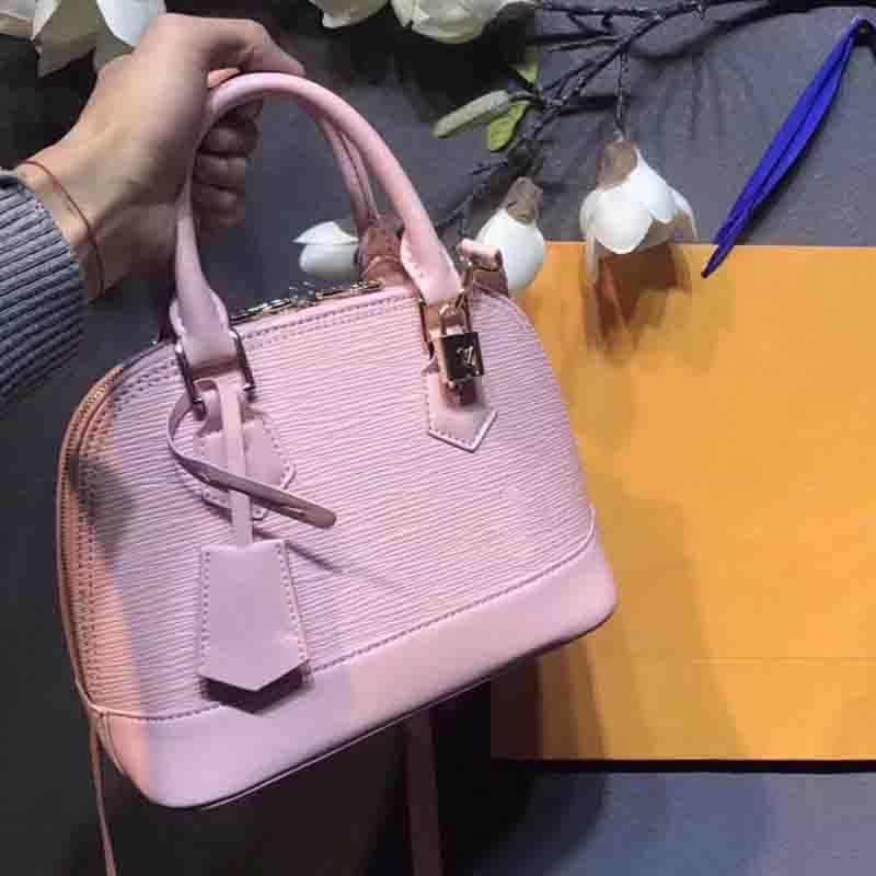 10aaa90c1c9a ALMA BB Shoulder Bags Shell Bag 2018 Brand Fashion Luxury Designer Handbags  Purses Epi Leather Crossbody Bag Tote Bags Luggage M41327 Sacs a Dos 2018  Famous ...