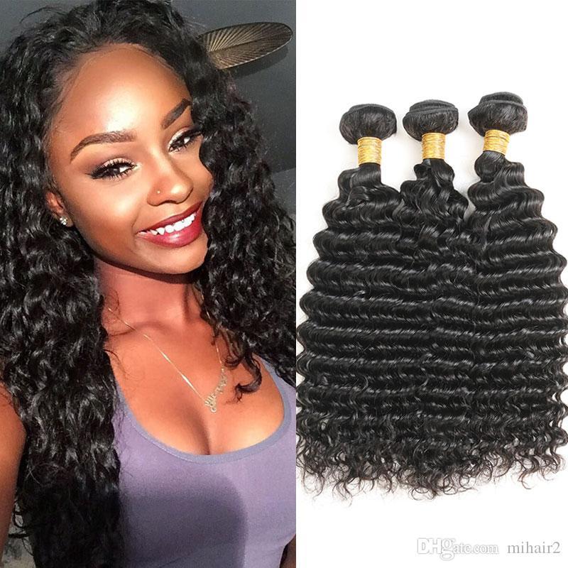 Mongolian Deep Wave Hair 3 Bundles 100 Virgin Hair Extensions