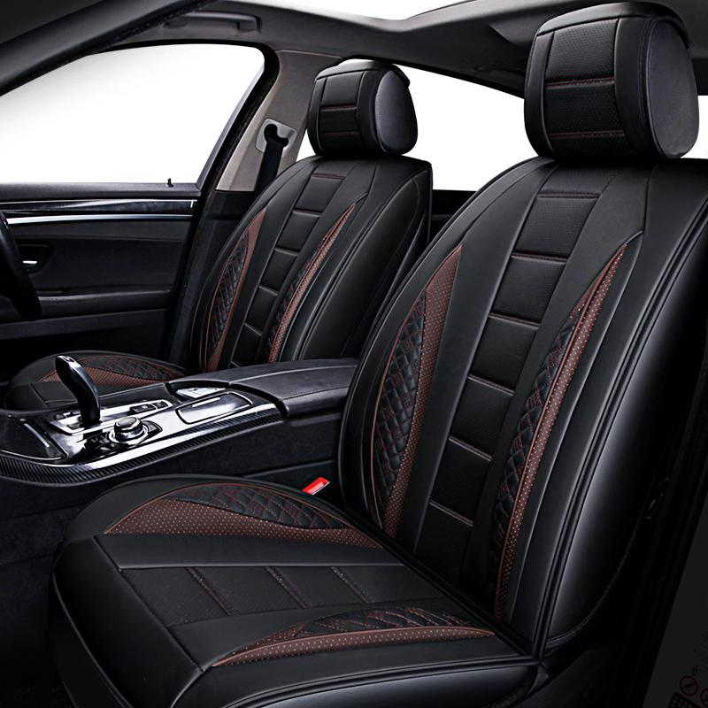 New Auto Leather Universal Car Seat Cover For Subaru Forester Outback Tribeca Heritage Xv Impreza Legacy Accessories Style Custom Fit Covers