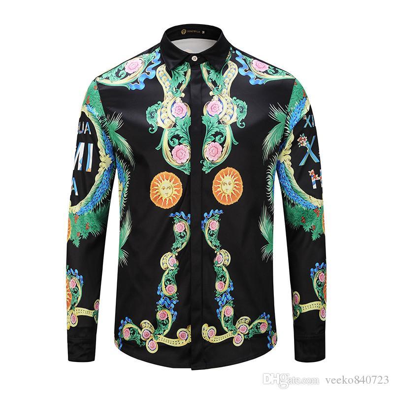 06a33c2d56da7 77 Men's Luxury Shirt 2018 3 D Printing Tiger New Men's Fashion ...
