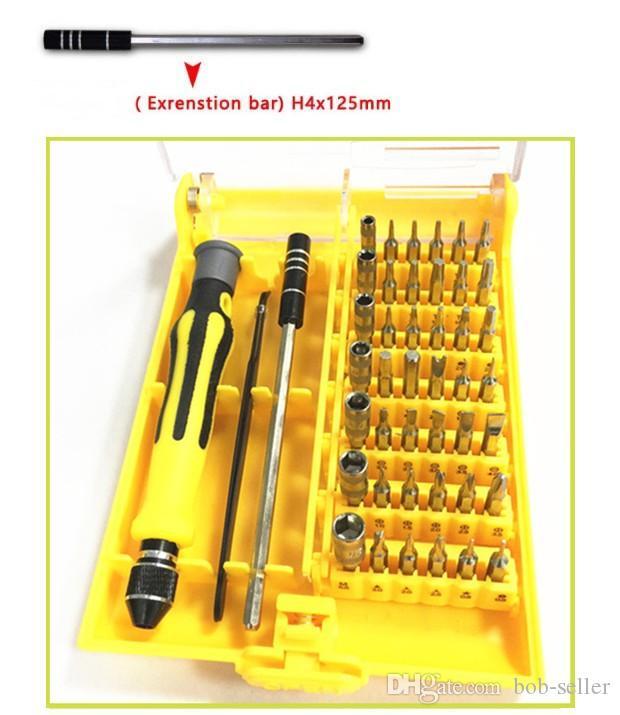 45 в 1 Ручной набор отверток для ремонта сотовых телефонов Инструменты для ремонта ЖК-экрана ноутбука Разберите набор инструментов