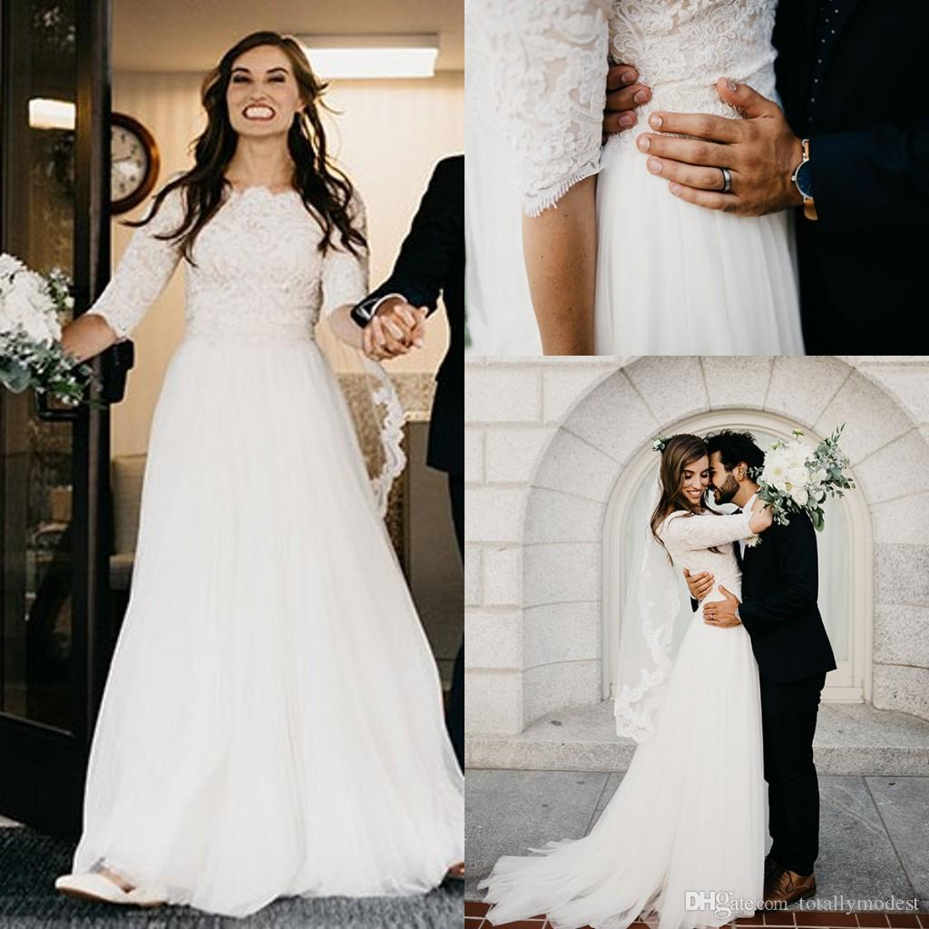 Modest Wedding Dresses with Lace
