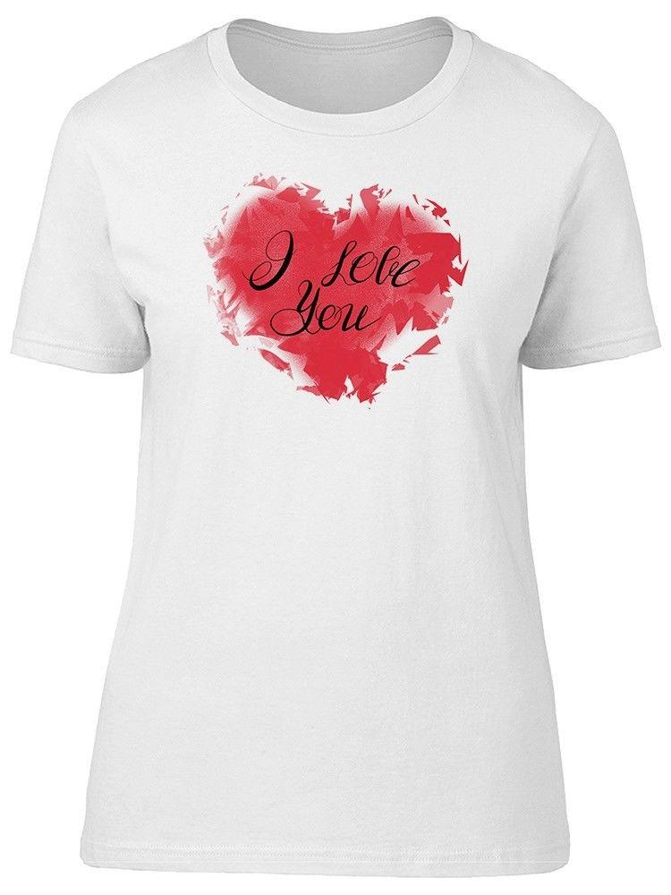 Red Heart With Love Quote Women S Tee Image By Shutterstock T Shirt
