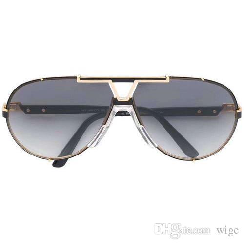 235abd0bc0 Compre GAFAS DE SOL VINTAGE NEGRO 990 Para Hombre Lentes Graduadas Gris  Gafas De Sol De Marca De Moda Nuevas Con Caja A $52.8 Del Wige | DHgate.Com