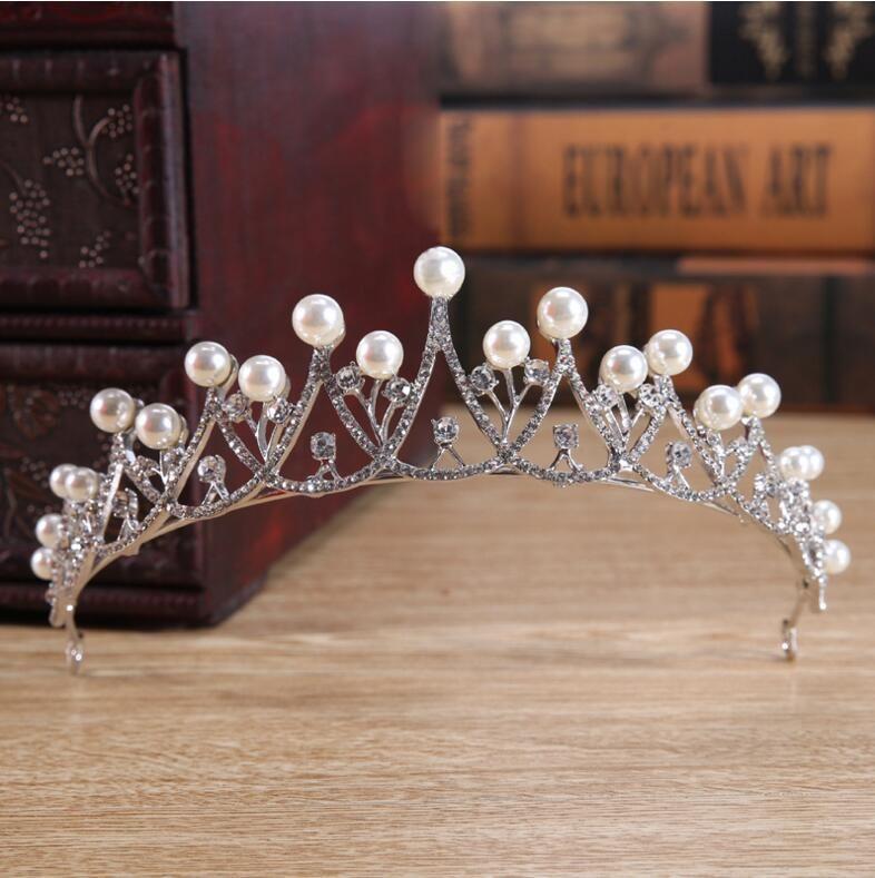 Rhinestone Crystal Wedding Party Prom Homecoming Crowns Band Princess Pearls Bridal Tiaras Hair Accessories Fashion LD521