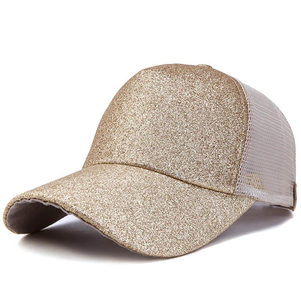 c89ba5560b9 Glitter Ponytail Baseball Cap Women Snapback Street Hat Summer Hip Hop Bun  Mesh Hats Casual Adjustable Sport Caps Drop Shipping Trucker Hats Flexfit  From ...