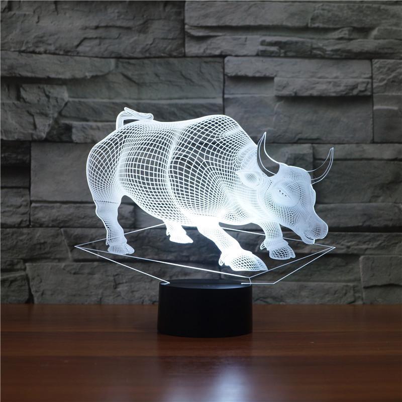 3d Touch Table Night Indien Creative Usb En À Couleurs Changer Bull Vache Light Bureau Lampe Dieu Décor Maison Led Bovins La Gros 7 Animal 0O8knwPX
