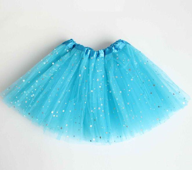 Kids Girl Star Glitter Dance Tutu Skirt Sequin With 3 Layers Tulle Tutu Toddler Girl Chiffon Birthday Party