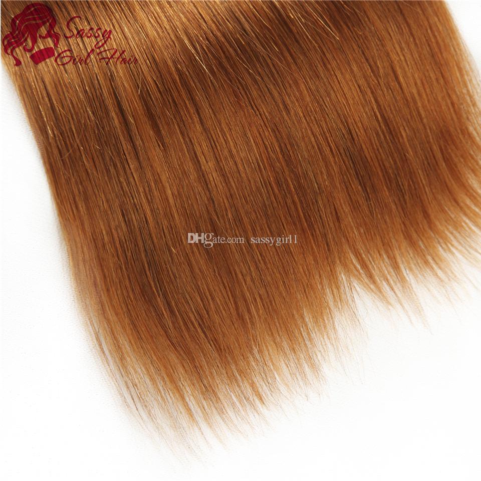 Straight Brazilian Hair Weave Bundles Black/brown 1B/30 Human Hair Extensions Straight Cheap Brazilian Hair SASSY GIRL