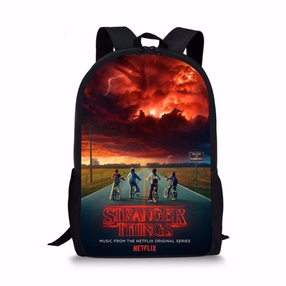 Stranger Things Season 2 School Bags Set For Children Pencil Case Bookbag  Teenager Boys Backpack Mochila Infantil Com Rodinha Rolling Backpacks On  Sale ... 69adb1c226258