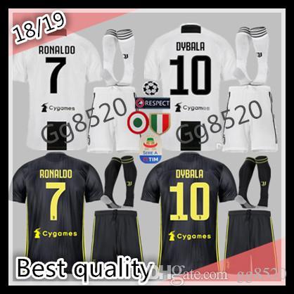 e40e12b26 18 19 Adult Juventus Soccer Jersey Kit+sock 2018 2019 Juve 7 RONALDO ...