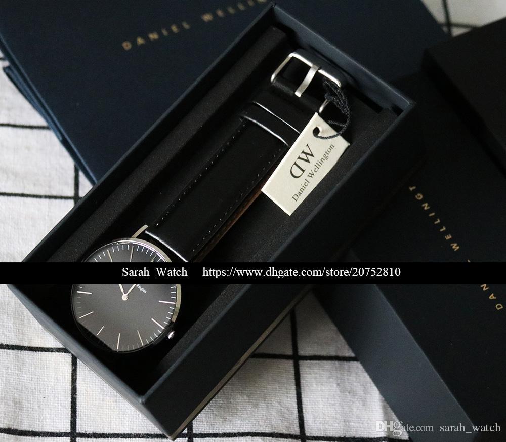 La mejor calidad 36mm 40mm Hombres Mujeres Reloj Blanco / Negro FACE Cuero / Nylon / Metal Reloj STRAP En el mismo enlace