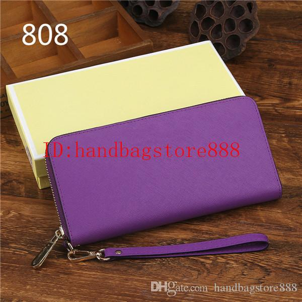 Fashion Women luxury MICHAEL KALLY wallets famous brand Genuine leather wallet single zipper Cross pattern clutch girl purse for iphone