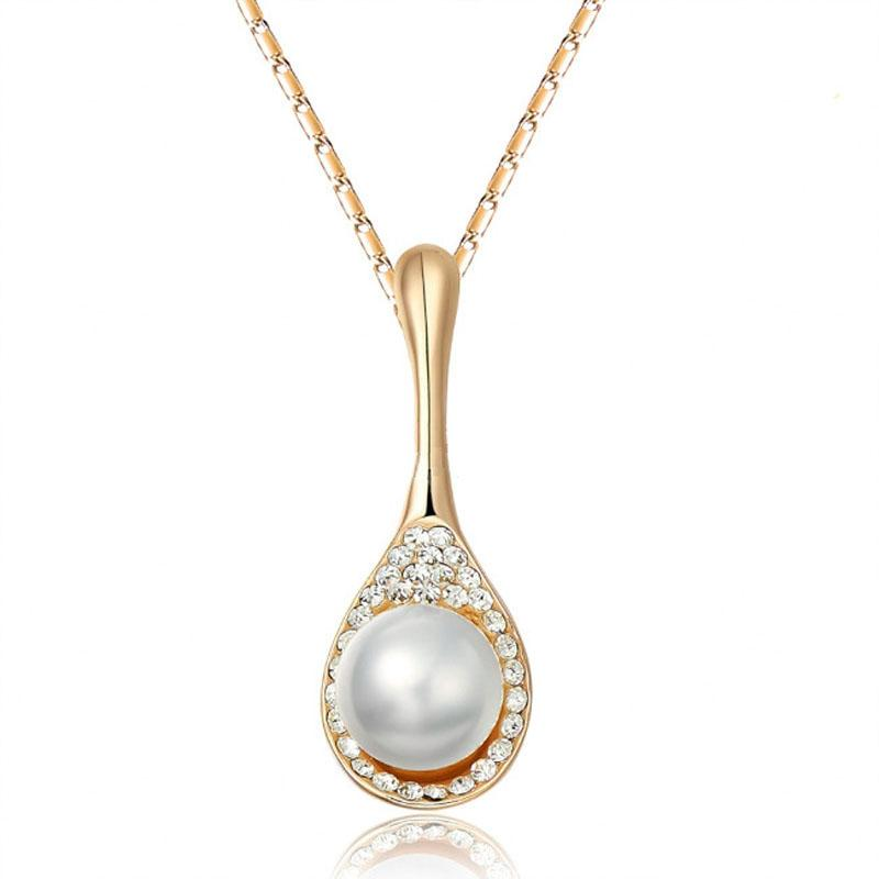 2015 Summer Simulated Pearl Pendant Necklace Women Chain Jewelry Nickel Free  Collier Femme Bijoux Boho Vintage Jewerly UK 2019 From Viulue dd48e2d469f8