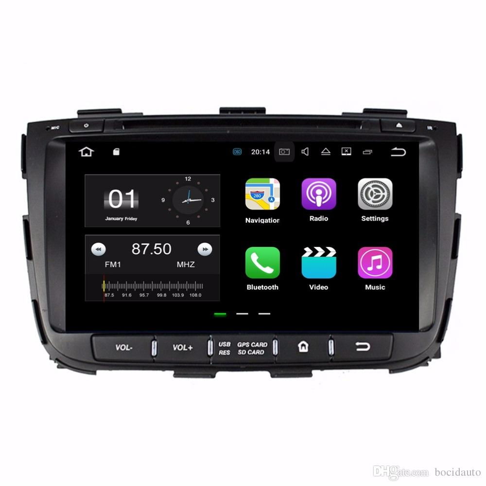 "Quad Core 2 din 8"" Android 7.1 Car DVD Player for Kia Sorento 2013 2014 With 2GB RAM Radio GPS WIFI Bluetooth USB 16GB ROM"