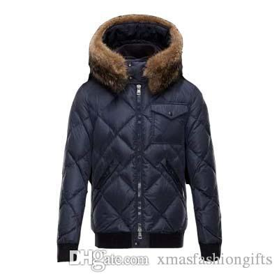 a134e73147f 2019 Fashion Winter Down Jacket Men Warm Brand Designer Thick Hooded Jackets  For Man Cool Anorak Real Racoon Fur Parkas Outwear Coats Online From ...