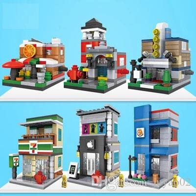 Authentic Building Blocks City Streetscape Series Bright Colors Environmentally Friendly Non toxic High Quality Plastic Fit Spelling Puzzle