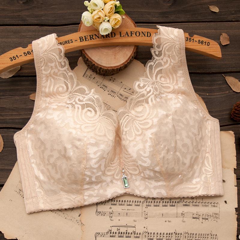 Big Cup Bra Top Qualilty soutien gorge Seamless No Trace Bra Plus Size Bras for Women Sutian Studded bras 40D 42D 44D