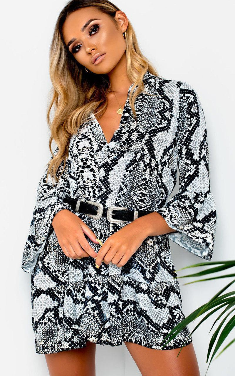 2c0756584a23 2019 Autumn Winter Dress Sexy Leopard Snake Pattern Irregular Ruffled Print  Dress Plus Size Casual A Line Dresses Dress Evening Long Maxi Summer Dresses  ...