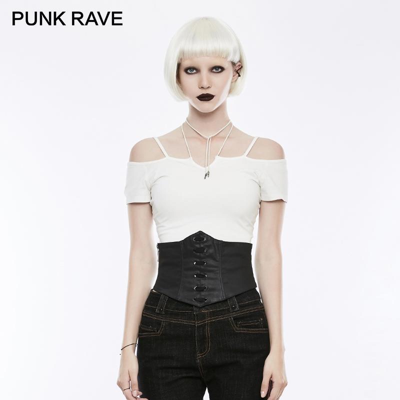 c7de1438ec9 PUNK RAVE Denim Black Slim Fit Gothic Corset Lady Steampunk Vintage  Underwear Waist Shaper Corset Performance Clothes Waisband Money Belts Mens  Online ...