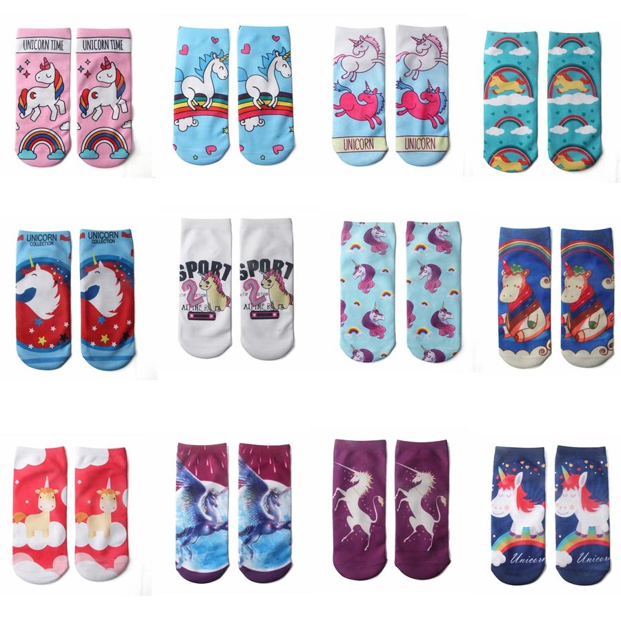 4dd70e4ee6b5 12styles Unicorn Christmas Socks Emoji 3D Kids Hip Hop Odd Skateboard  Sports Cotton Sock Novel Pattern Printed Christmas Socks GGA801 Wool Sock  Cool Guys ...