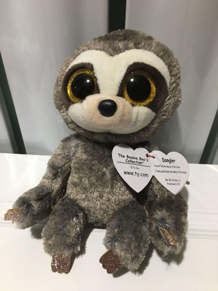 4166286a9c2 2019 Dangler Sloth TY BEANIE BOOS Collection 15CM BIG EYE Plush Toys  Stuffed Animals Soft Toy Baby Toy Decor From Rainbowny