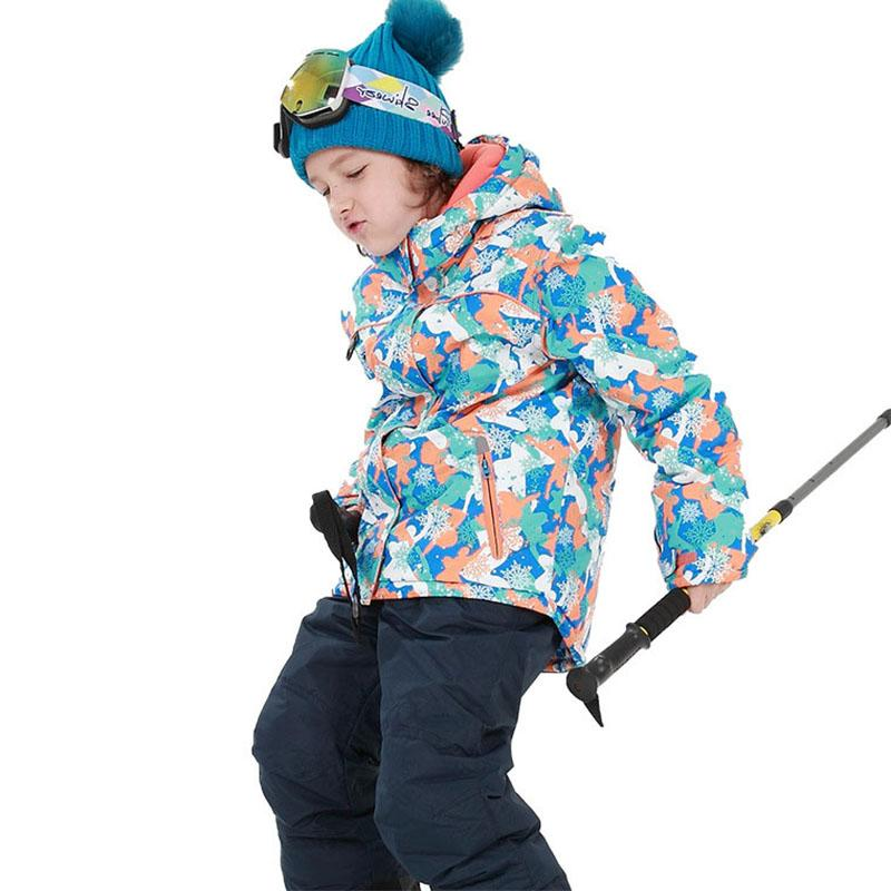 f110a39a03dc 2019 Boys Girls Children S Snow Ski Suits Outdoor Wear Hooded ...