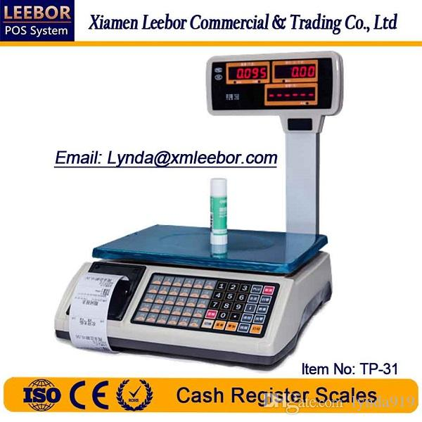 TP-31 Electronic Pricing/ Counting Scale, Supermarket Cash Register Price  Computing Scales, POS Retail Weighing Multi-language Receipt Print