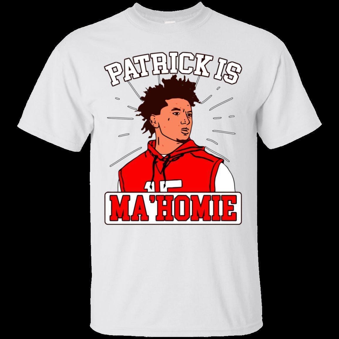 a07508d2b94 Patrick Mahomes T Shirt Patrick Is Mahomie Kansas City Chiefs Short Sleeve  S 5XL Funny Unisex Casual Tee Gift Top Awesome Shirts Cool T Shirts For Men  From ...