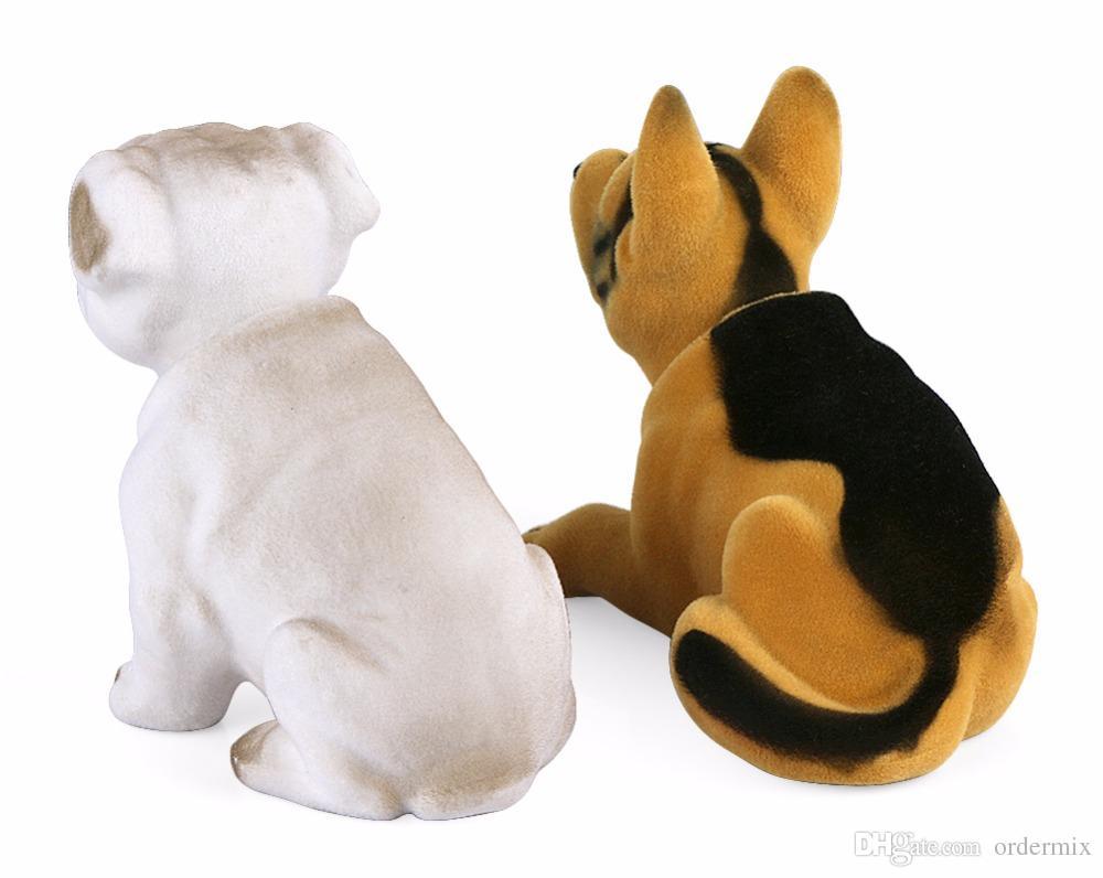 Car Ornament Shaking Dog Nodding Puppy Doll Cute Auto Dashboard Interior Decoration Shakes Head Bobblehead Dog Home Furnishings