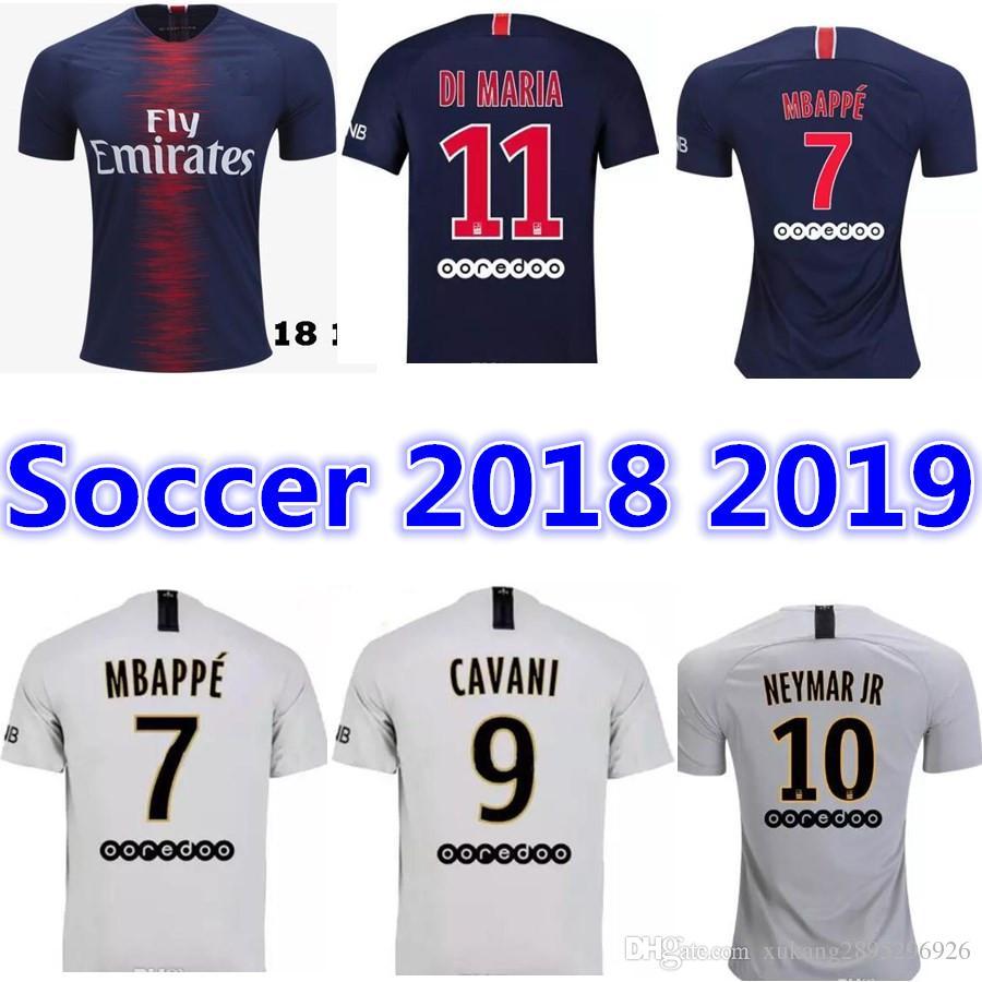 b8d63cea0 ... sweden 2018 2019 psg 10 neymar jr home soccer jersey 18 19 7 mbappe soccer  shirt