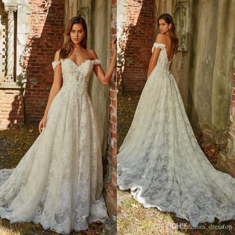 Discount 2019 Eve Of Milady Lace Wedding Dresses Off Shoulder ...