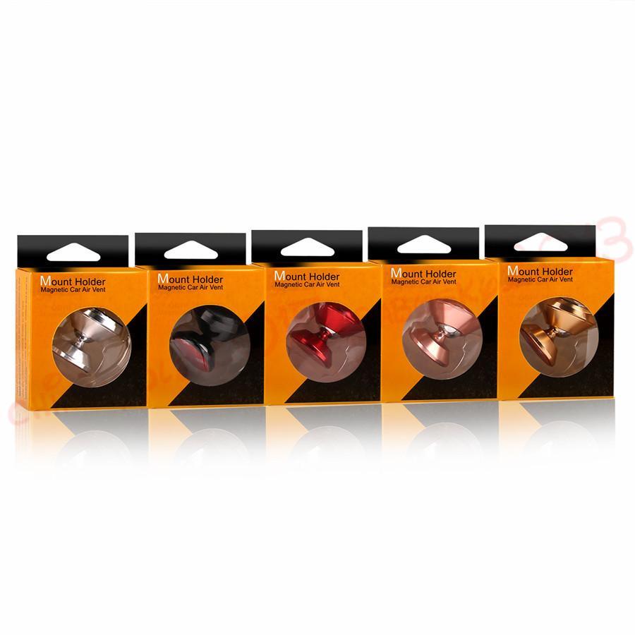 마그네틱 자동차 마운트 홀더 360도 합금 회전 전화 스탠드 홀더 아이폰 7 8 X SAMSUNG S8 S9 GPS MP3 소매 상자