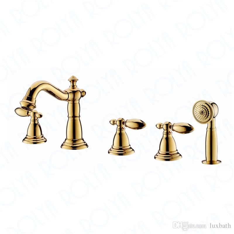Grosshandel Rolya Luxuriose Goldene Bad Dusche Mischbatterie Massivem