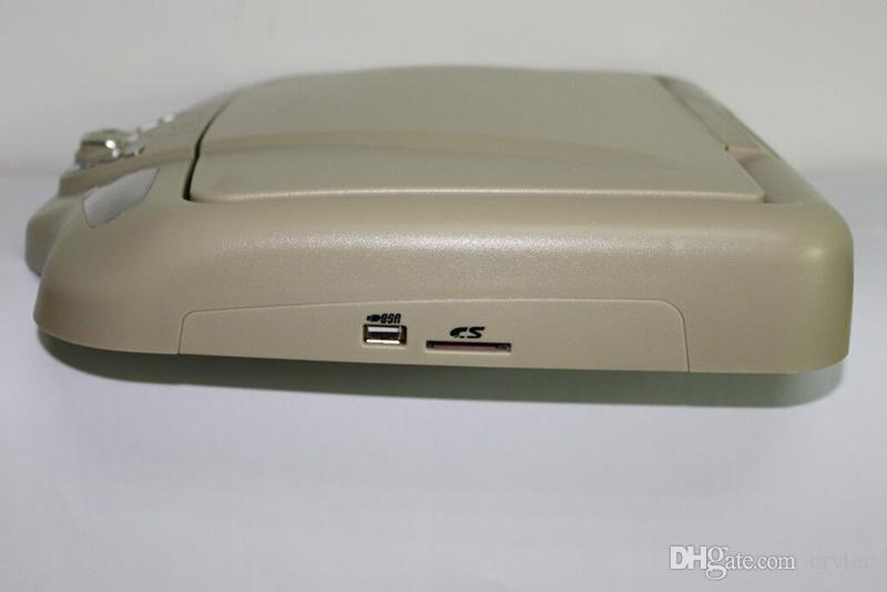 11 inch car roof mount dvd USB SD FM IR Game Stable car dvd player flip down