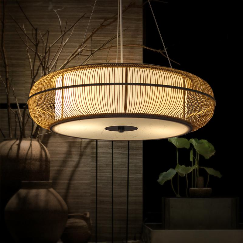 Großhandel Bambus Kreisförmige Pendelleuchten Neue China Restaurant ...