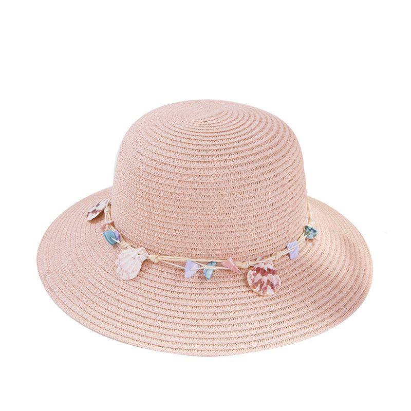 Compre Shell Chapéus De Verão Para Mulheres Design Mulheres Praia Chapéu De  Sol Dobrável Brimmed Chapéus De Palha De Cumax fe327d7f47f