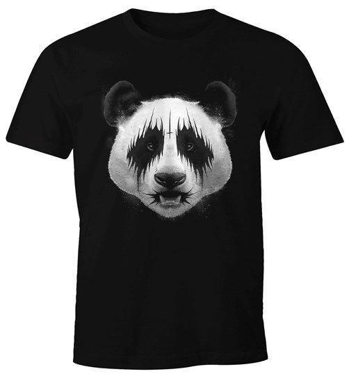 0389bc5a6a5156 Herren T Shirt Black Metal Panda Heavy Rock Musik Fun Shirt Moonworks®  Random Funny T Shirts Clever Funny T Shirts From Toptees32