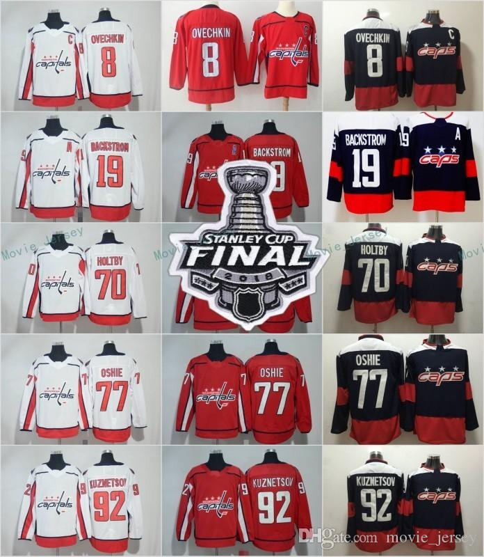 51daf76a2 2019 8 Alex Ovechkin 2018 Stanley Cup Final Washington Capitals Women Youth  Men Nicklas Backstrom T.J Oshie Evgeny Kuznetsov Holtby Hockey Jersey From  ...