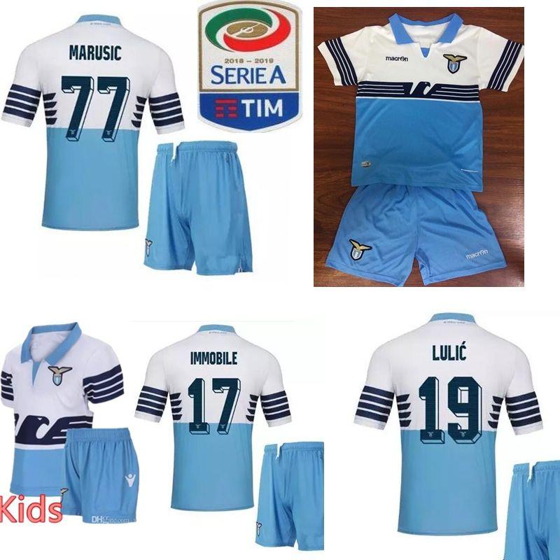 9eee50ae5 2019 Lazio Soccer Jersey 18/19 Home Away Third KIDS KIT LUIS ALBERTO  WALLACE BASTOS LULIC IMMOBILE BOY SET 2018 2019 Shirt Football Uniform  Child From ...