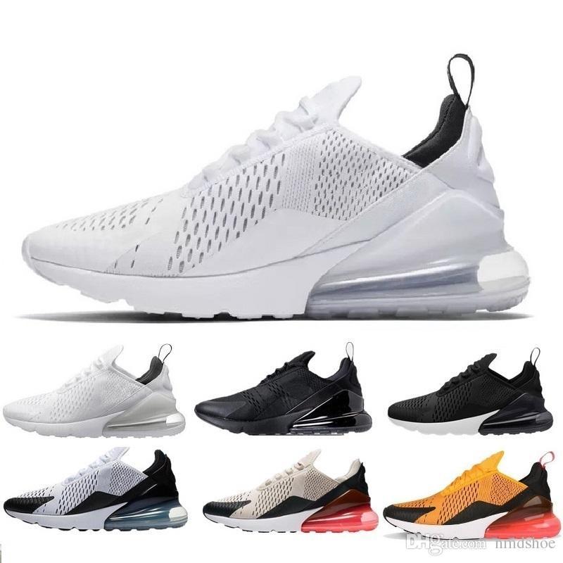 Acheter Nike Air Max 270 Haute Qualité Mens Triple Noir 270 Ah8050 Trainer Chaussures De Sport Womens Sole 270 Chaussures De Sneakers Taille Eur 36 45 De ...