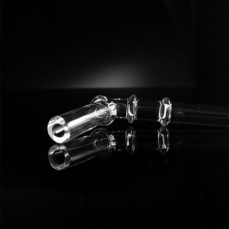 Paja de vidrio para Hitman Bongs de agua para fumar Boquilla Boquilla de 10 mm para desmontable Bubbler Juice Box Caja de cereal Plataformas petroleras