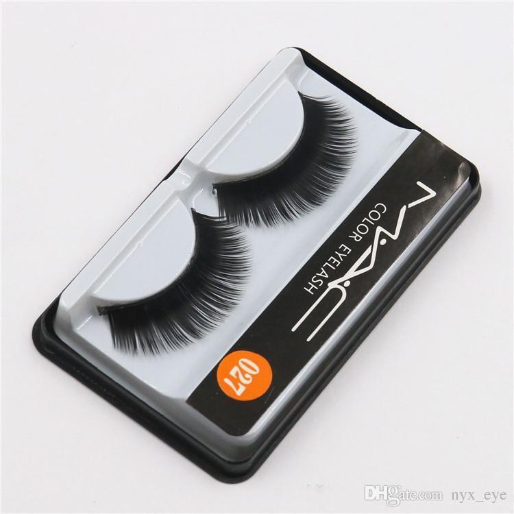 509e80a247a Brand False Eyelashes Handmade Natural Long Curl Thick Soft Fake Eye Lash  Extensions Flair Black Color Eyelashes Makeup Terrier Lashes #027 M Makeup  False ...