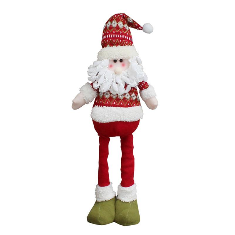 retractable christmas santa claussnowman dolls standing navidad figurine christmas tree ornaments kids christmas gifts toy new all christmas decorations - Animated Christmas Ornaments