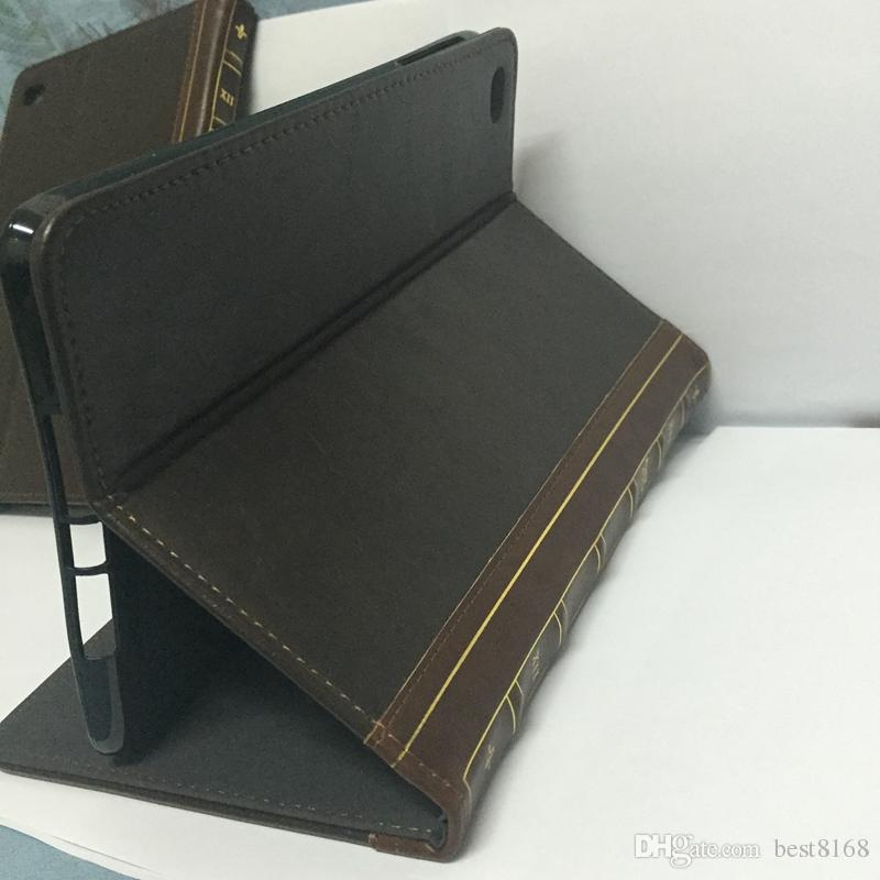 Book Style Leather Wallet Case For Table Ipad Mini 1 2 3 4 7.9inch Retro Ancient Vintage Old Flip Skin Pouch Holder Kickstand Cover
