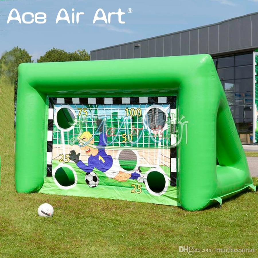 Newest designed inflatable soccer carnival games, inflatable football target games for children outdoor fun