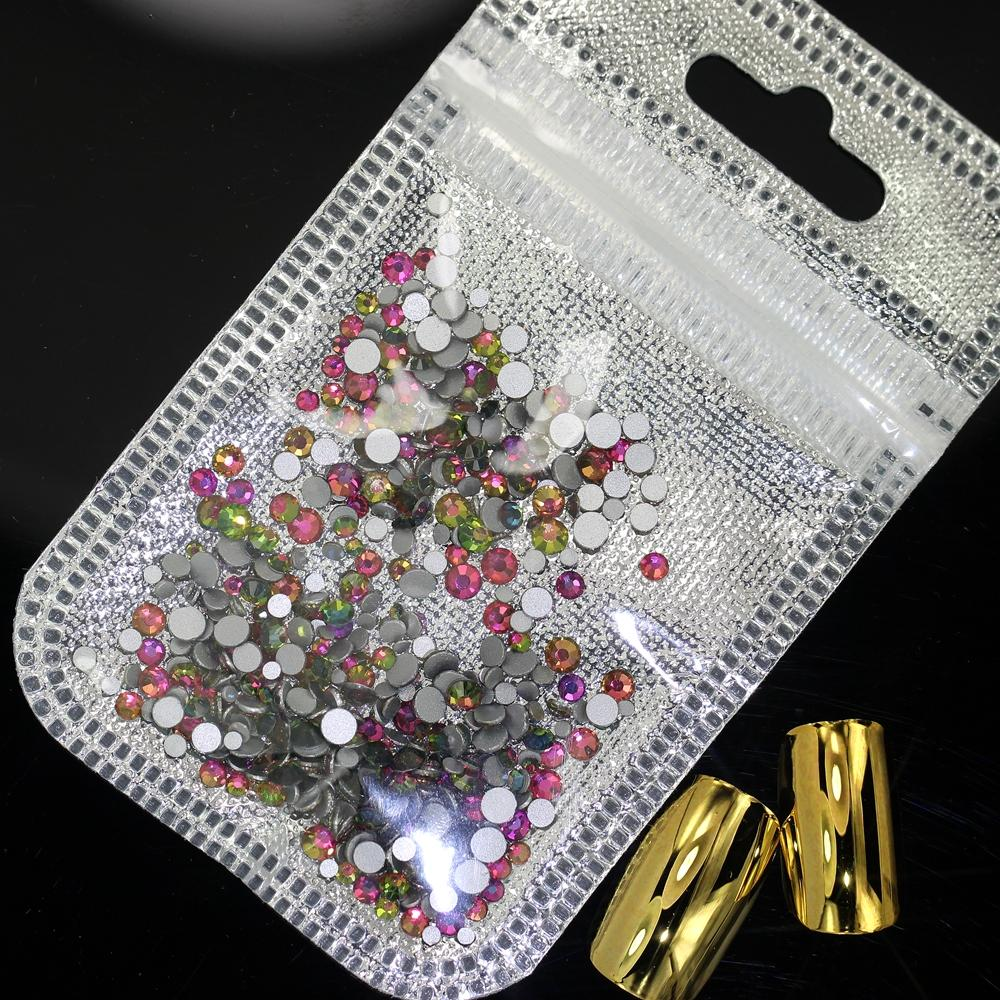 Nail Stickers Mix Sizes Of Ss4 Ss12 Nail Art Non HotFix Crystal Rhinestone  DIY Flatback 3D Glass Rhinestones Nails Decorations Nail Foils Uk From  Caiyecao 1df1c68e01de