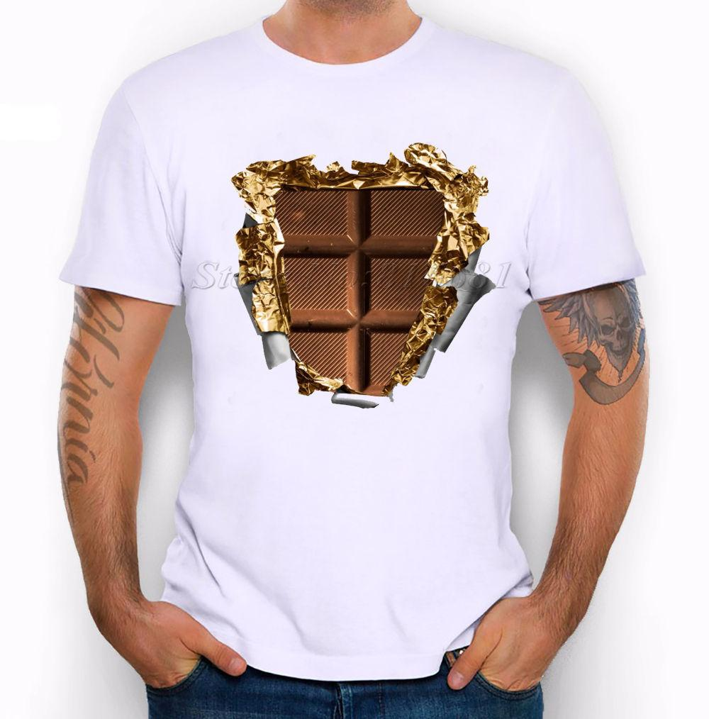 9e924e39ceb3 Best Sixpack Abs Muscles Are Made From Chocolate Funny Joke Men T Shirt Tee  Men T Shirt Print Cotton Short Sleeve T Shirt Summer T Shirt Makes Shirts T  From ...