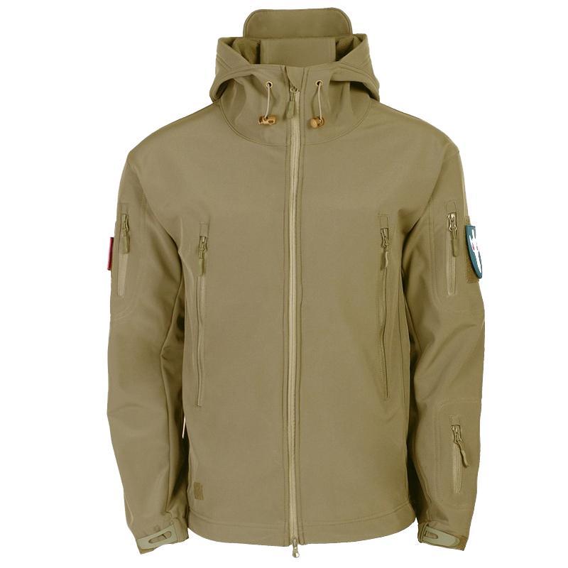 Army Camouflage Men Fleece Winter Coats Military Tactical Jackets Men Waterproof Windbreaker Raincoat Hunt Clothes Plus Size 3XL
