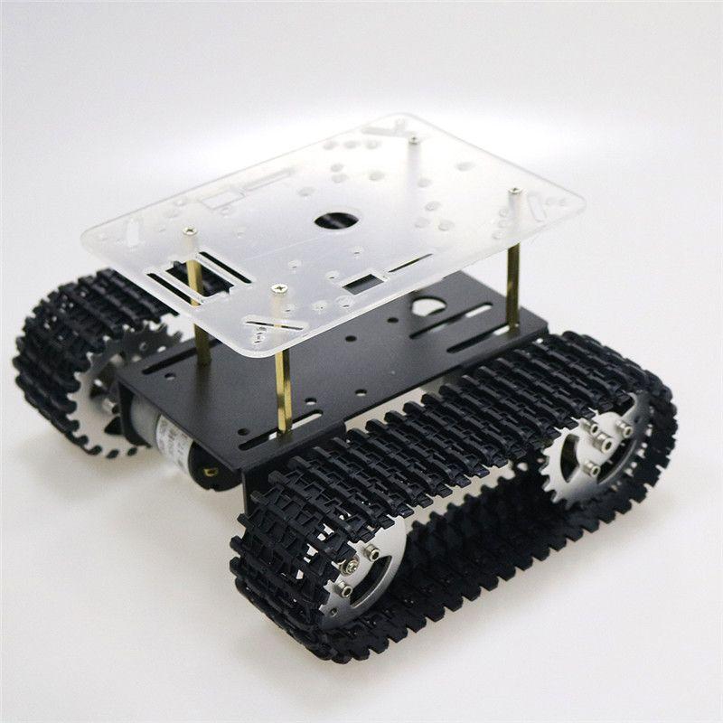 Jouet 350 Châssis Voiture Moteur Robot Partie Arduino Réservoir Forme Avec Nouvelle Piste Plate V Rpm Diy 12 T101 Smart Arrivée Pour Mini mNvnwO80